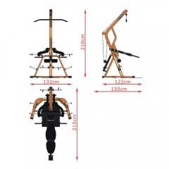 Posilovací stroj MegaTec - Triplex workout station 4