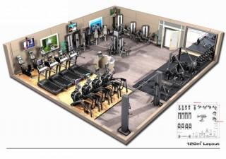 Váš projekt fitness centra ve 2D a 3D